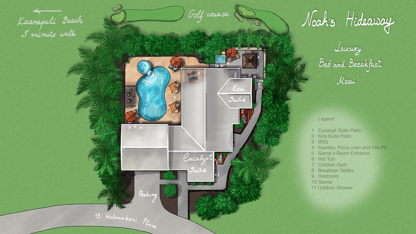 Noah's Hideaway Propery Map