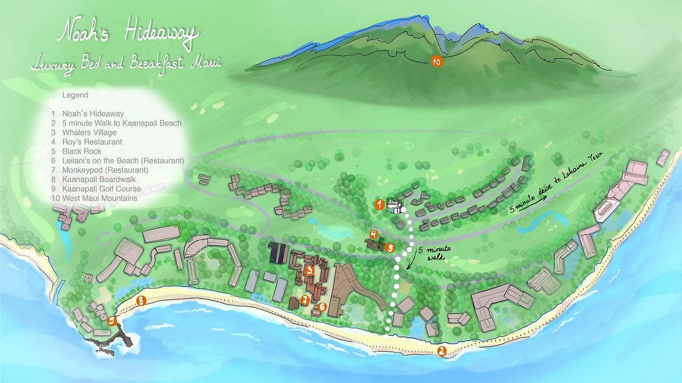 NOAH'S HIDEAWAY AREA MAP