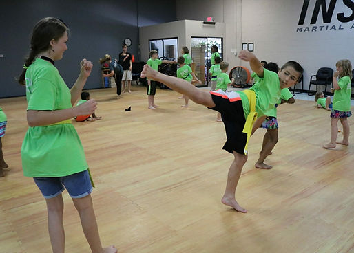 Summer Camp Boy doing martial arts