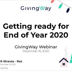 GivingWay Webinar: Getting Ready for End of Year 2020