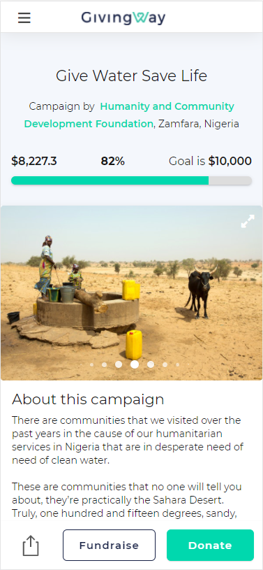 GivingWay Fundraising Campaign