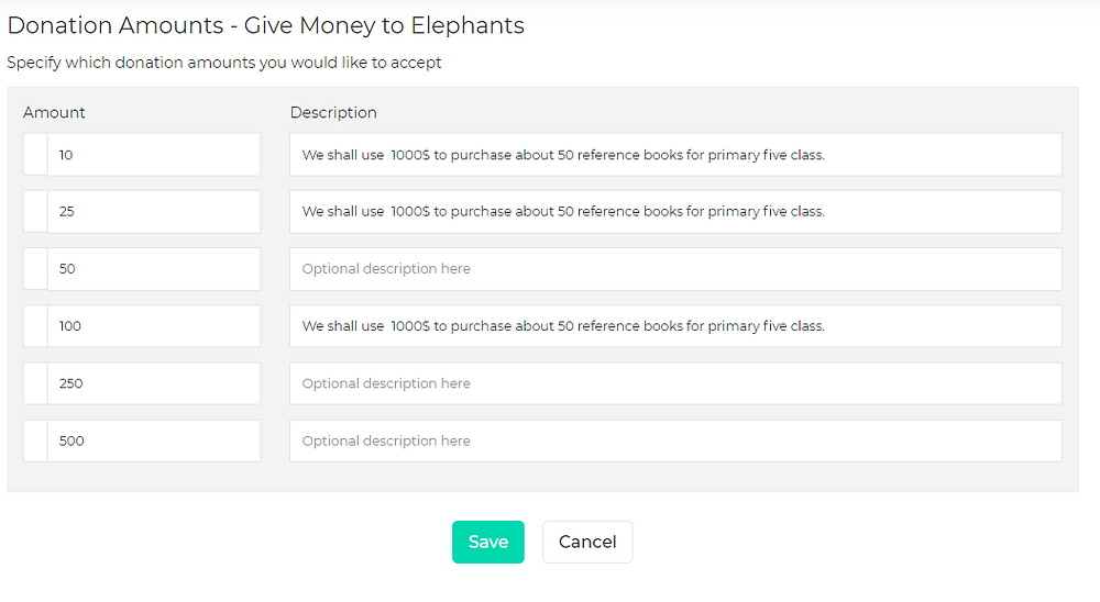 How to edit the default donation amount on a GivingWay page