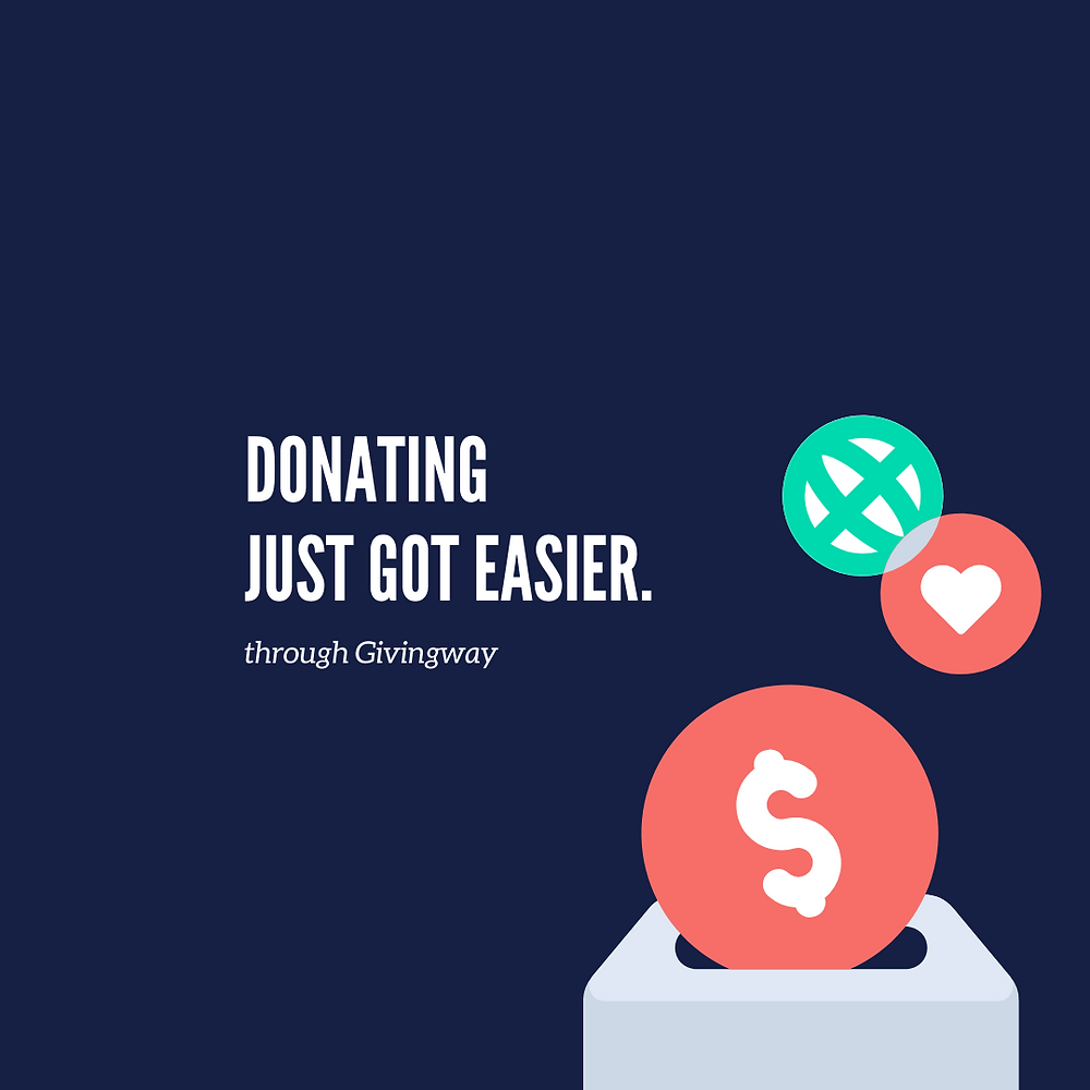 Donating just got easier - template 3
