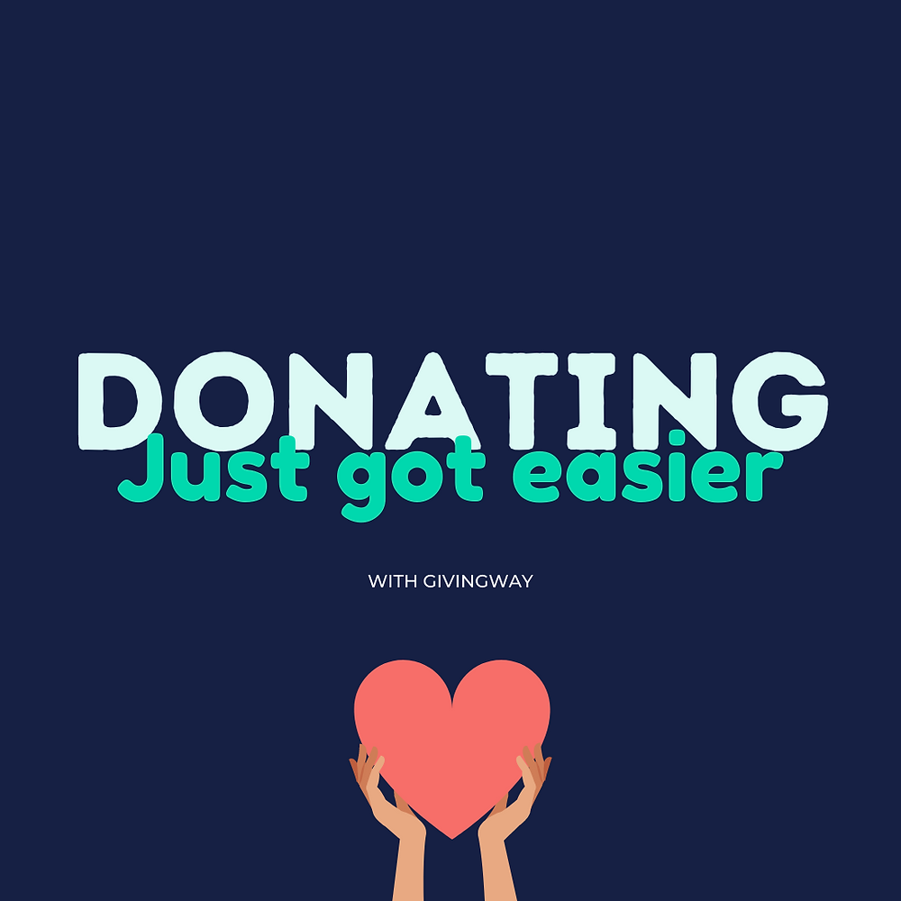 Donating just got easier - template 1