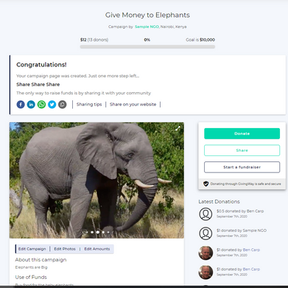 How to Update your GivingWay Fundraising Campaign