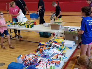 New school supplies drive a success!