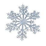 Snowflake shape decoration with clipping