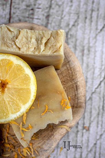 Lemon en Rhassoul klei Body & Bold Head bar - Zeep