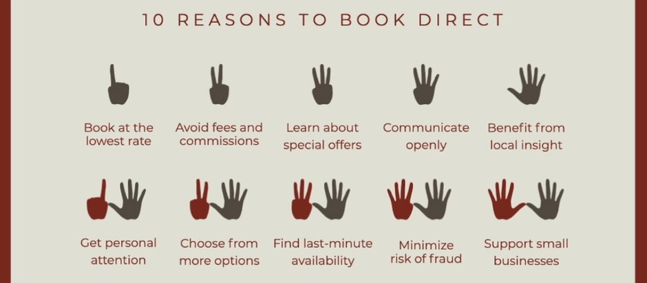 """INCENTIVES TO """"BOOK DIRECT"""""""
