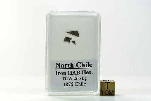 North Chile - Iron IIAB Hex. - found 1875 in Chile - 3 small fragments - 0.120 g