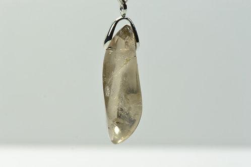 Smoky Quartz Necklace - Trepca Mine Kosovo - polished - nice shape - 5.1 g