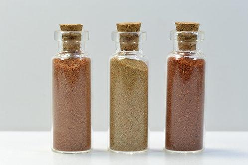 SAHARA SAND sample SET of 3 bottles EGYPT - Gilf Kebir Region - Wadi Hamra 27 g