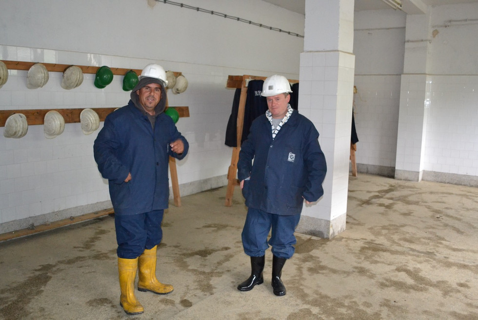 Trepca Mine Visit 2012 - Skender and me