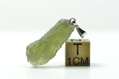Rare Natural Moldavite Pendant - Tektite - Czeck Repuplic TOP quality 1.7 g