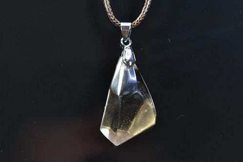 Smoky Quartz Necklace - Trepca Mine Kosovo - polished - nice shape - 13.3 g