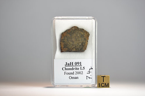 JaH 091 - Chondrite L5 - found 2002 in Oman - slice - 7.4 g - VERY RARE!