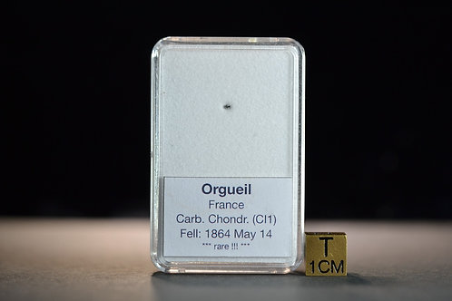 Orgueil - Carb. Chondrite CI1 - fell 1864 in France - micro fragment