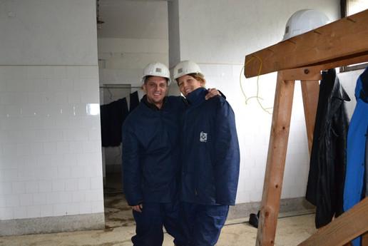 Trepca Mine Visit 2012 - Sabit and Marina