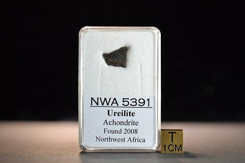 NWA 5391 - Ureilite Achondrite - found 2008 in NW Africa - small slice - 0.38 g