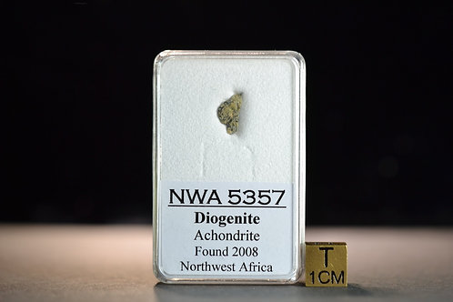 NWA 5357 - Diogenite Achondrite - found 2008 in NW Africa - fragment 0.145 g