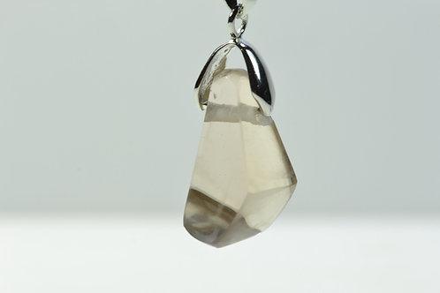 Smoky Quartz Necklace - Trepca Mine Kosovo - polished - nice shape - 4.7 g