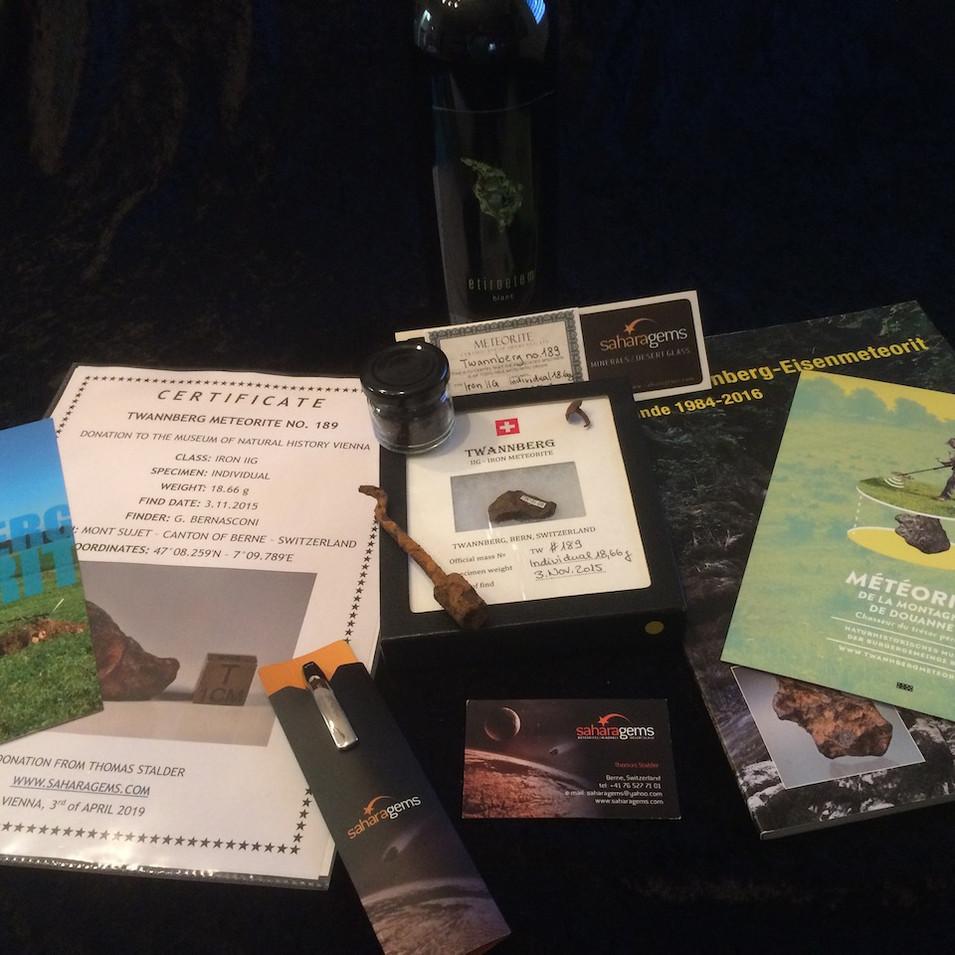 Twannberg Metorite Donation