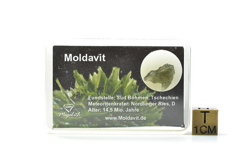 Rare Natural Moldavite - Tektite - Czeck Repuplic - small individual - 0.40 g