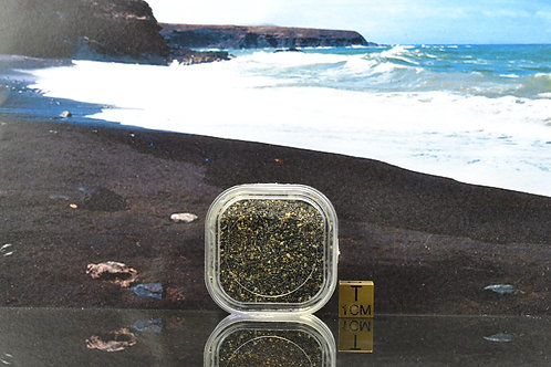 SAND SAMPLE - ISLAND OF FUERTAVENTURA - natural sand - collectors box - 26 g