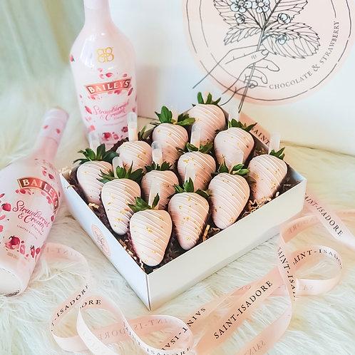 Boozy Strawberries & Cream