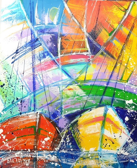 QUAND LES VOILES S'EMBRASSENT  46X38