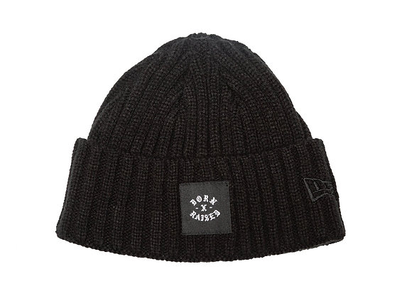 Born X Raised HEAVY KNIT New Era Beanie | black