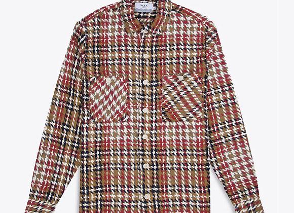 Wax London Whiting Woven Plaid Overshirt | mustard