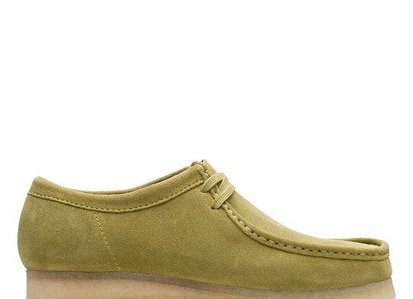 Clarks Originals WALLABEES | green khaki suede