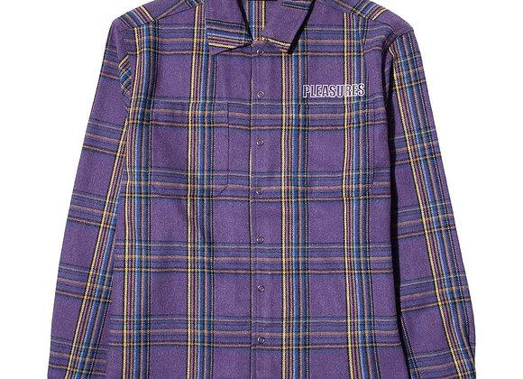 Pleasures WIDOW Heavyweight Flannel | purple
