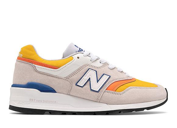 New Balance M997PT Sneakers | grey/yellow/orange