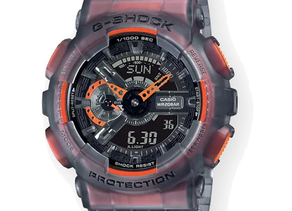 G-Shock GA110LS-1A Watch | black semi-transparent