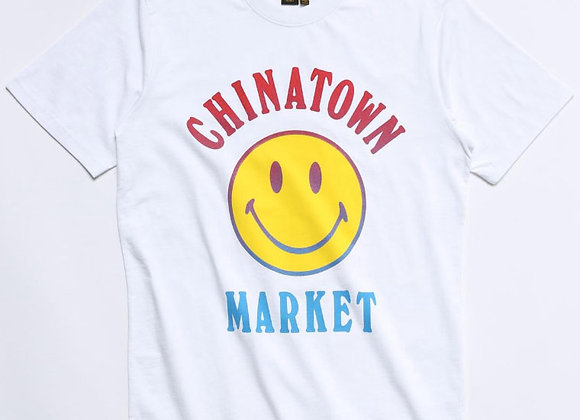 Chinatown Market SMILEY LOGO T-Shirt | white