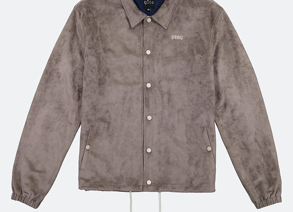 Qilo MICROSUEDE Coach Jacket | dark earth