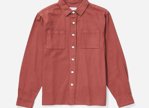 Saturdays NYC NOLAN Washed Denim L/S Shirt | light plum
