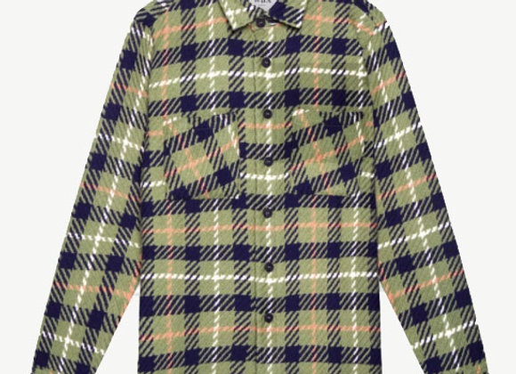 Wax London WHITING Woven Overshirt | khaki check