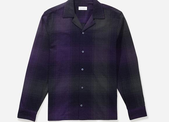 Saturdays NYC MARCO Plaid Flannel Shirt | amethyst
