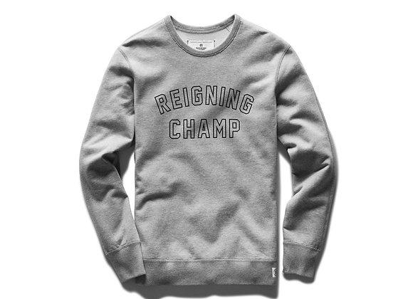 Reigning Champ VARSITY Crewneck | h grey/black