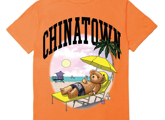 Chinatown Market SMILEY BEACH BEAR T-Shirt | orange