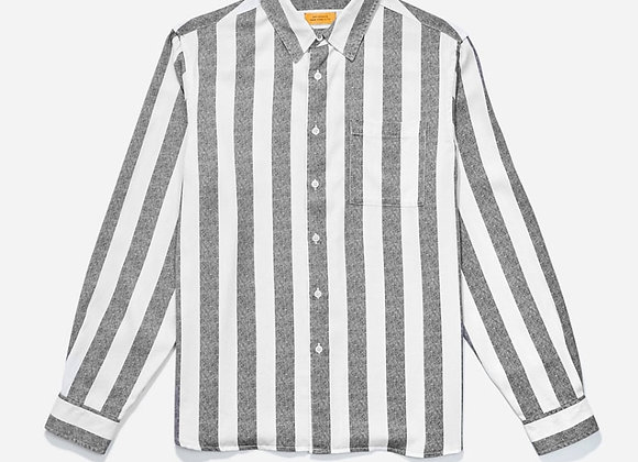 Saturdays NYC PERRY Jumbo Stripe L/S Shirt | black