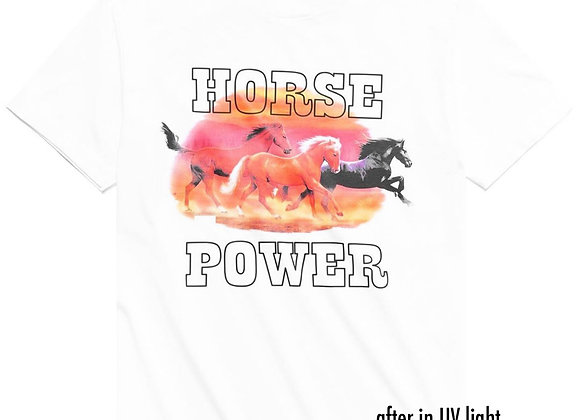 Chinatown Market X Round Two HORSE POWER UV T-Shirt | white