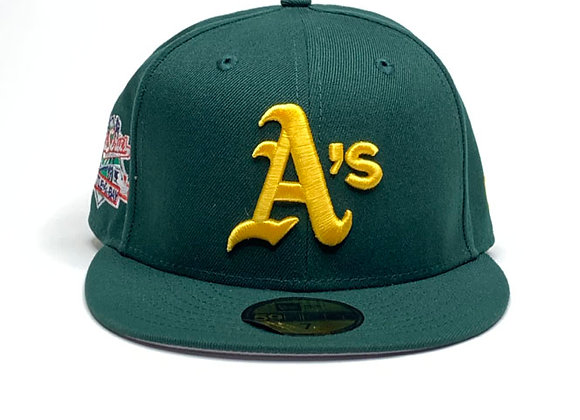 New Era OAKLAND A's CUSTOM 1989 World Series  59Fifty Fitted Hat | green