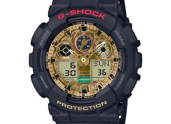 G-Shock GA100TMN-1A Watch | black/gold