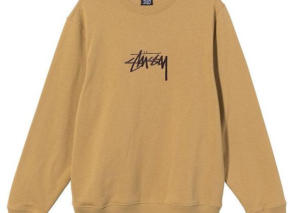Stussy STOCK Embroidered Crew Sweatshirt | khaki