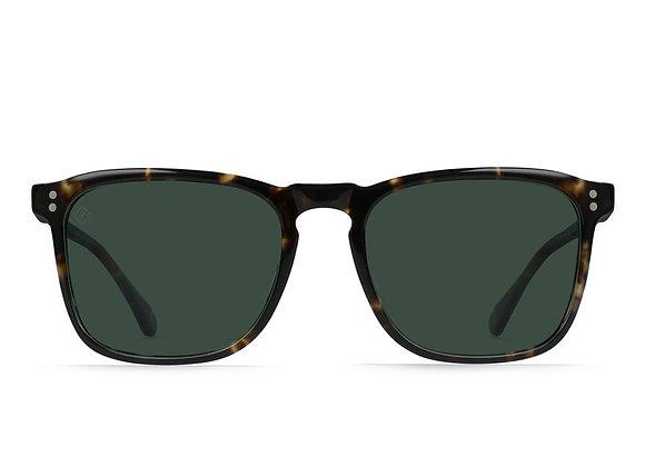Raen WILEY Polarized Sunglasses   brindle tortoise/green