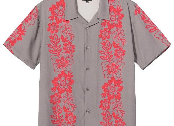 Stussy HAWAIIAN Pattern Shirt | grey